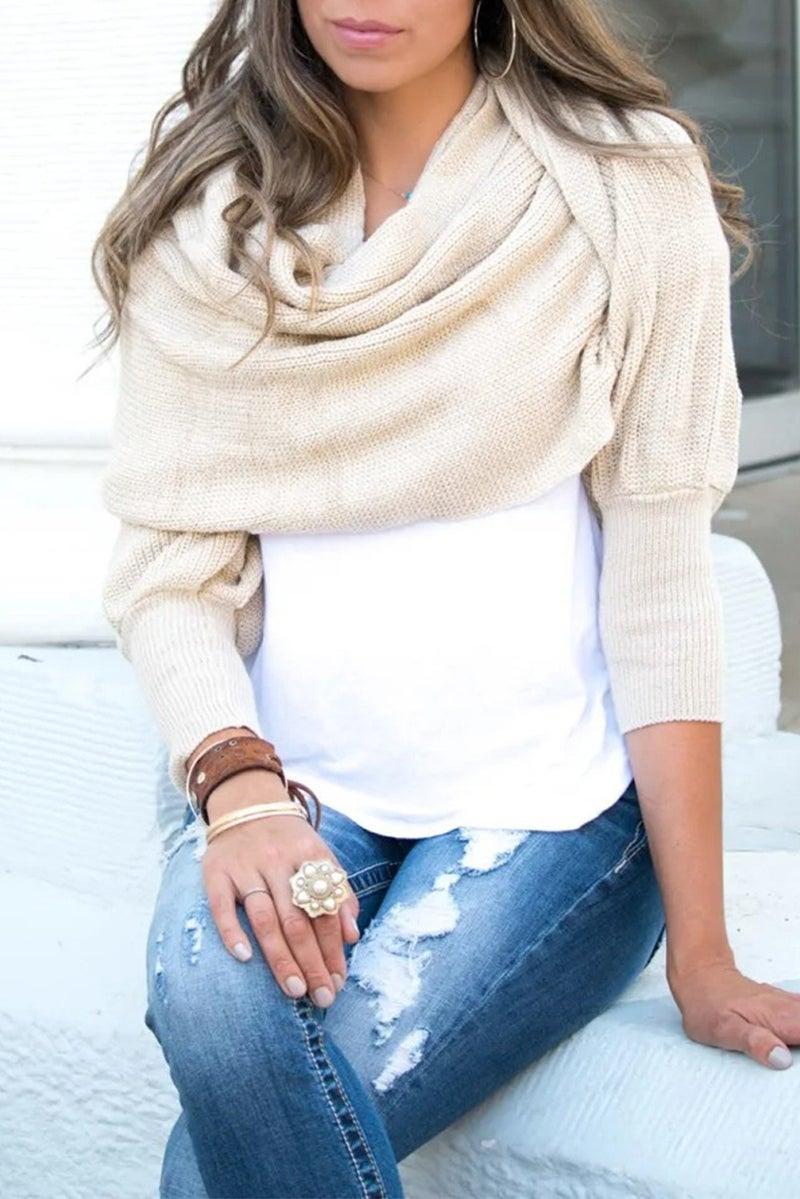 Knit Sweater Arm Scarf