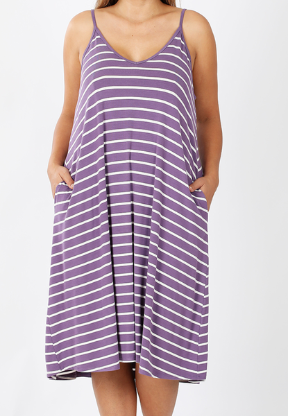 Deal of the Day!! Enjoy the Days Tank Dress - Lilac