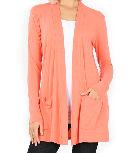 Perfection In a Cardigan - Coral