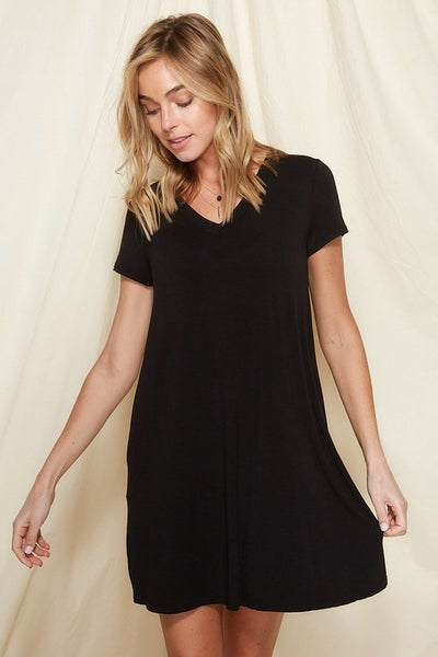 Something About  You Bamboo Dress - Black