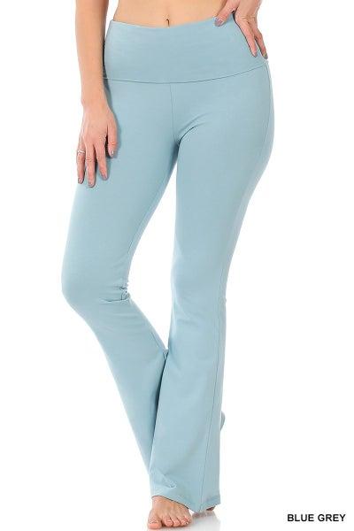 Premium Flare Leggings - Blue Green
