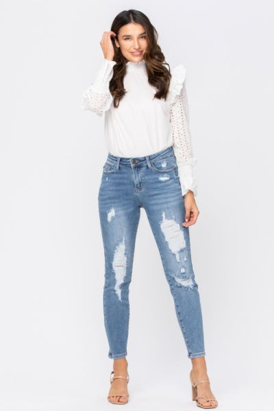 A Lifelong Love High Waist Distressed Judy Blue Jeans