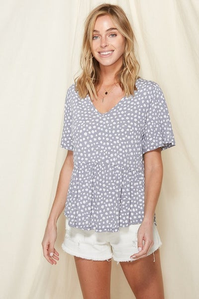 All I Know Ruffle Short Sleeve Top