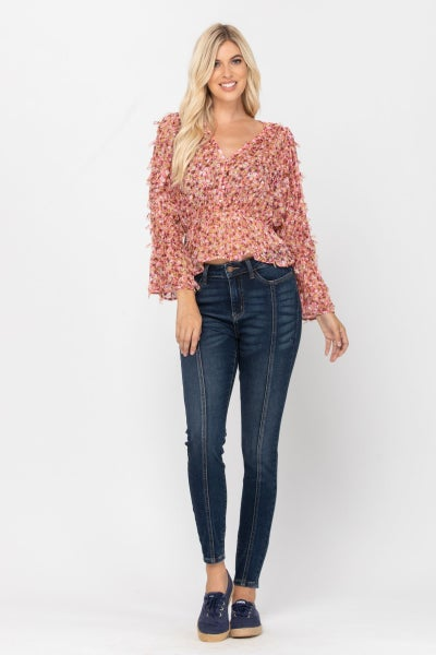 Walk The Line Judy Blue High Waist Skinny Jeans