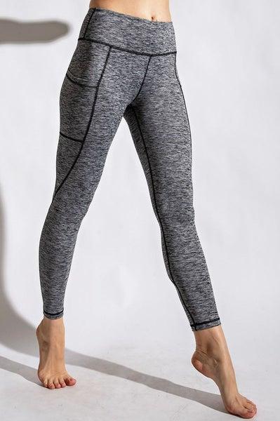 Full Length Compression Active Leggings - Grey