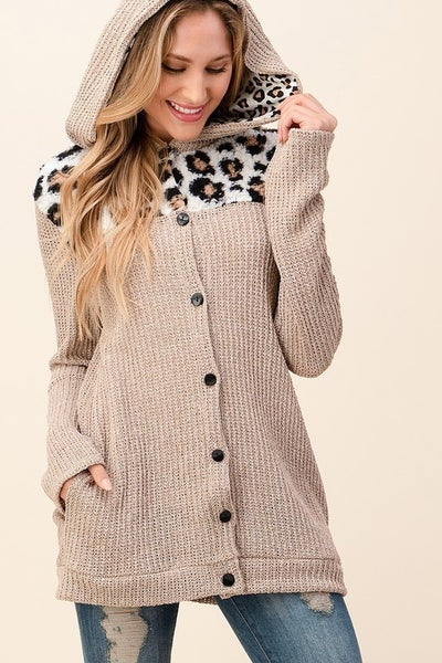 Forever Happy Knitted Button Up Cardigan