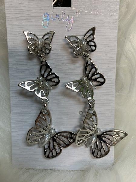 Fluttering Butterfly Earrings