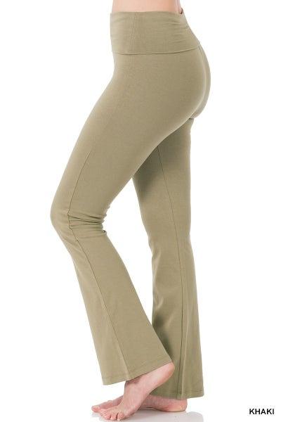 Premium Flare Leggings - Khaki