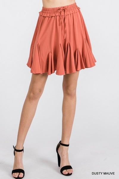 Fun and Flirty Skirt - Dusty Mauve