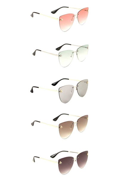 Bee Stud Oval Sunglasses