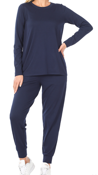 Seize the Day Jogger Set - Navy