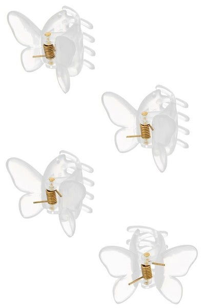 Mini Butterfly Hair Clip Set of 4