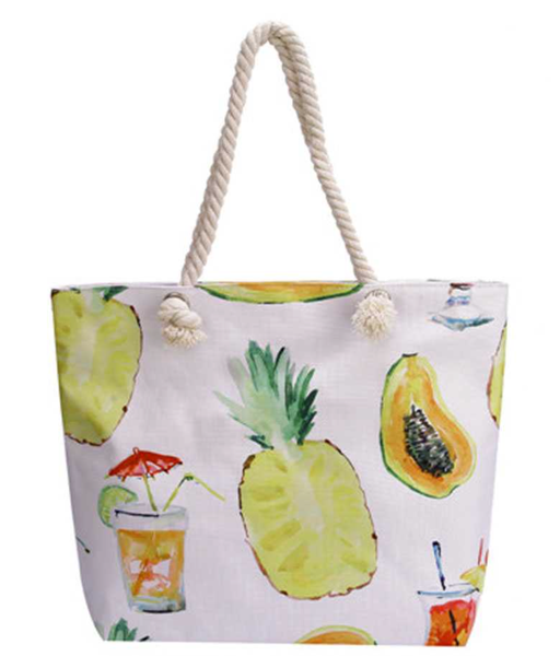Pineapple Canvas Tote Bag