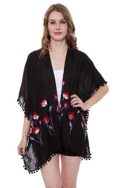 Glorious Day Embroidered Floral Kimono