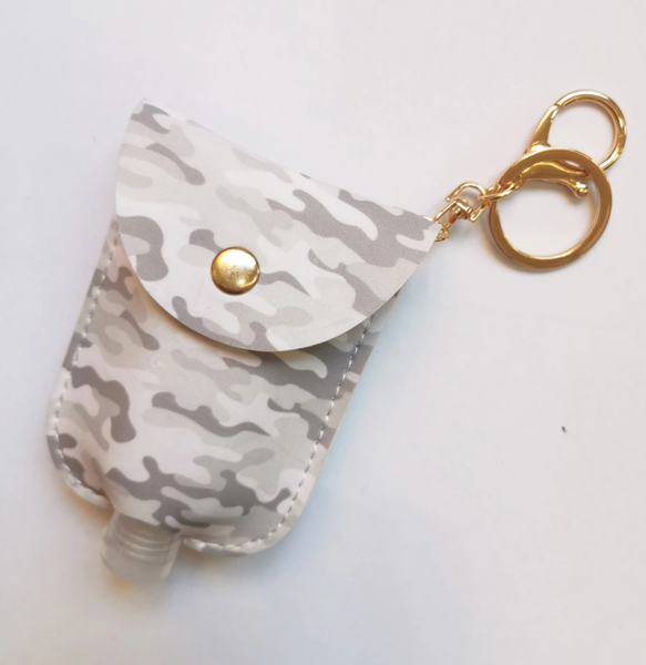 Patterned Hand Sanitizer Caddy - Grey Camo