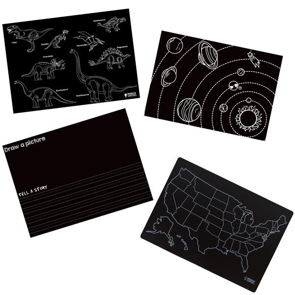 Imagination Starters Chalkboard Placemat Sets of 4