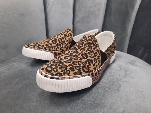 Very G Slip-On Sneaker -- Tan Leopard