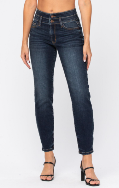 Maybe This Time High Rise Relaxed Fit Judy Blue Jeans
