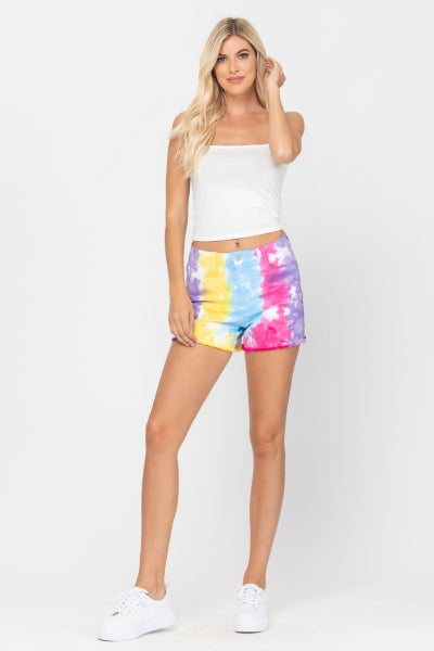 Peace, Love, and Tie Dye Judy Blue Shorts