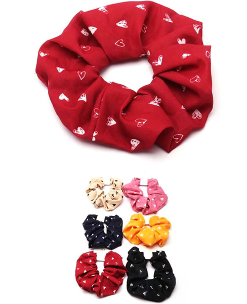 Hearts Hair Scrunchie