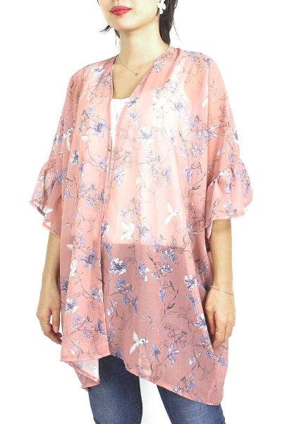 Fallen Flower Kimono - Pink