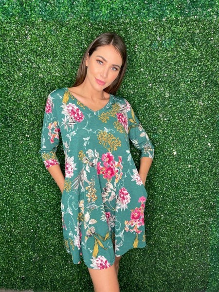 Lost In Direction Floral Dress