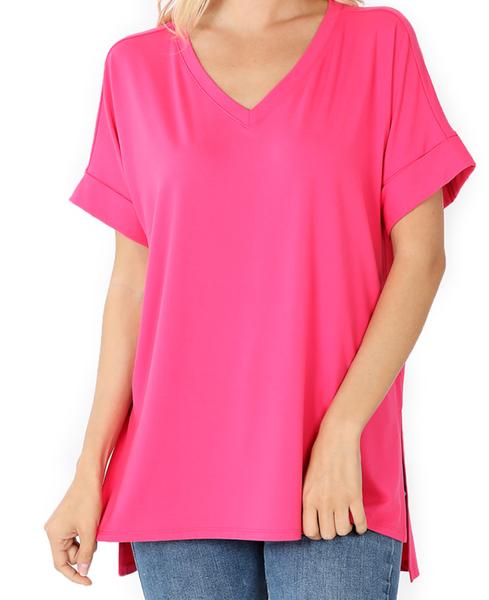 Weekender Top - Hot Pink