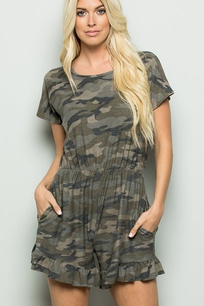 Obviously Yours Camo Romper