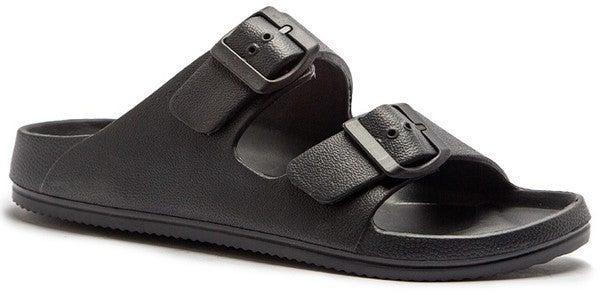 Jelly Buckle Strap Slide Sandal