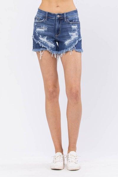 The Time of My Life Judy Blue Tulip Hem Shorts