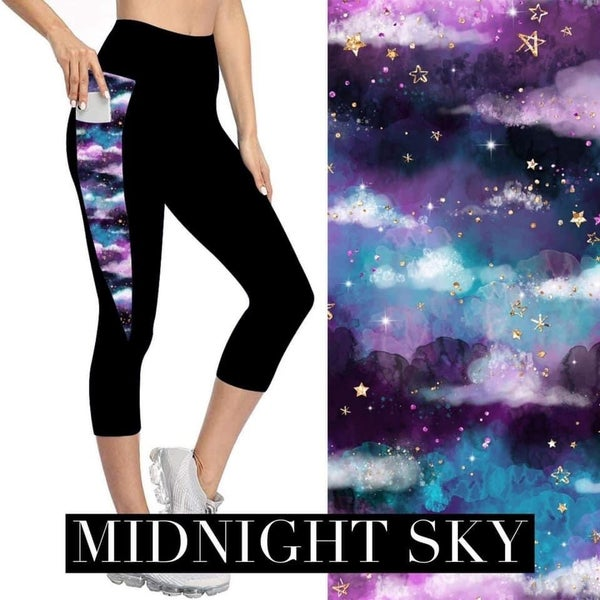 Midnight Sky Capri Leggings