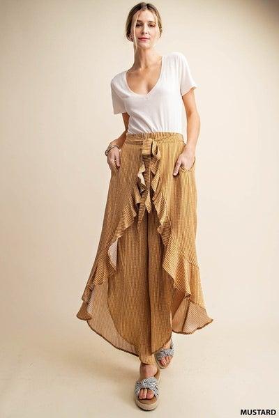 Perfect Together Loop Stripe Pants - Mustard