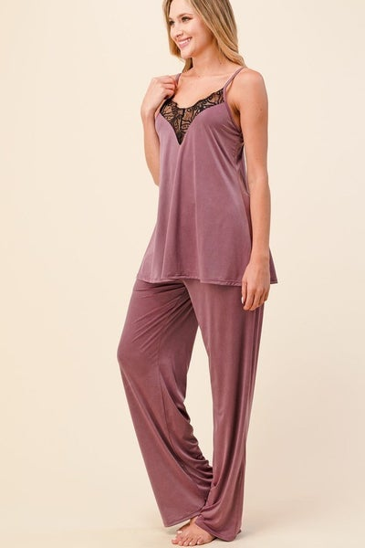 Giving You Everything Silky Pants - Mauve
