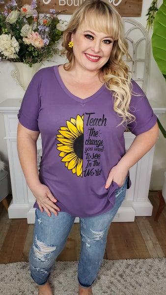 Sunflower Teacher Graphic Tee