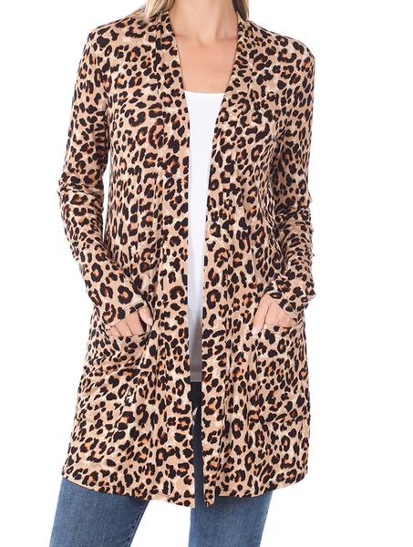 A Girl Like You Cardigan - Tan Leopard