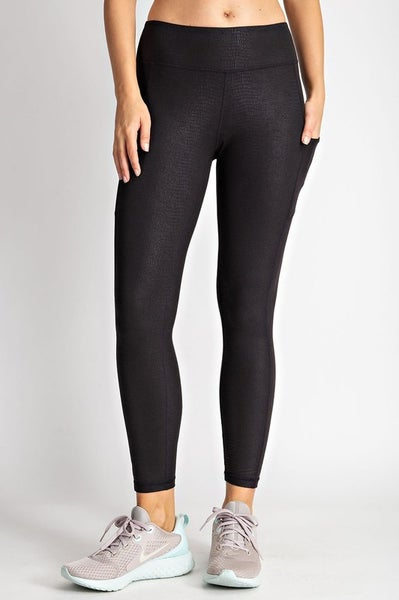 Premium Athletic Support Leggings with Phone Pocket - Snake