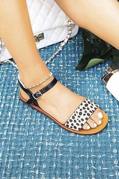 Strappy Animal Print Sandals