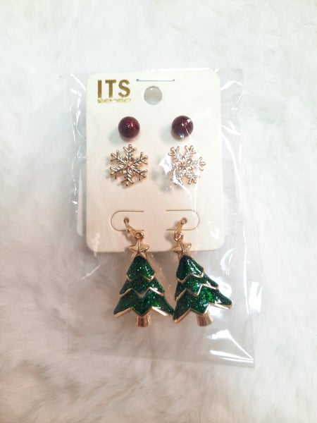 Holiday Christmas Tree Earring Set