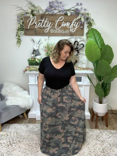 Confidence In You Maxi Skirt - Camo