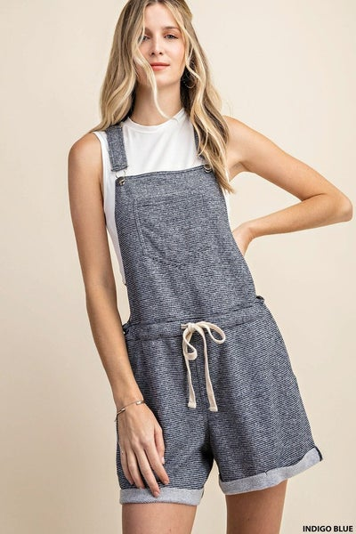 Something Just Like This Overalls Navy (S)