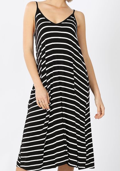 Deal of the Day!! Enjoy the Days Tank Dress - Black