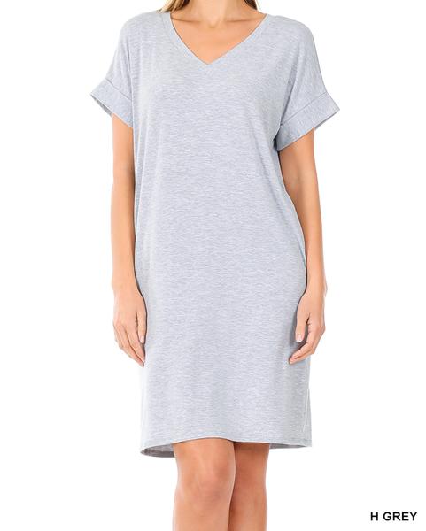 Let's Go Dress - Heather Grey (S)