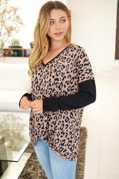 I Need You Cheetah Print Long Sleeve Top