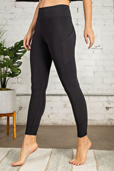 Full Length Compression Active Leggings - Black