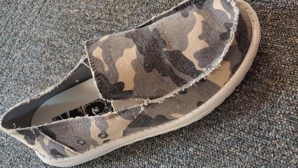 Mr. J Slip On Shoe - Grey Camo