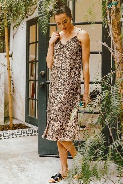 Gone In A Heartbeat Animal Print Dress