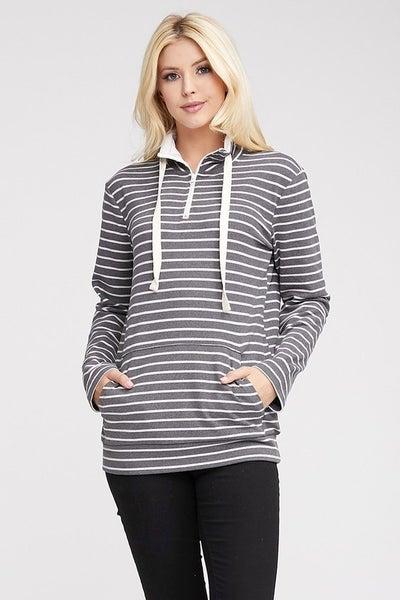 High Hopes 1/4 Zip Sweatshirt - Charcoal