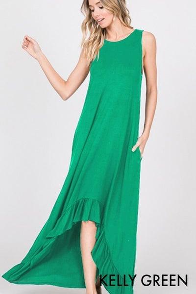 Summer Wonderland Maxi Dress - Kelly Green