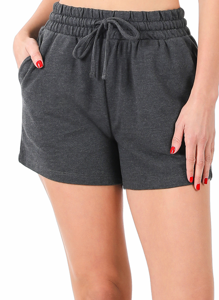 Go Anywhere With You Shorts - Charcoal