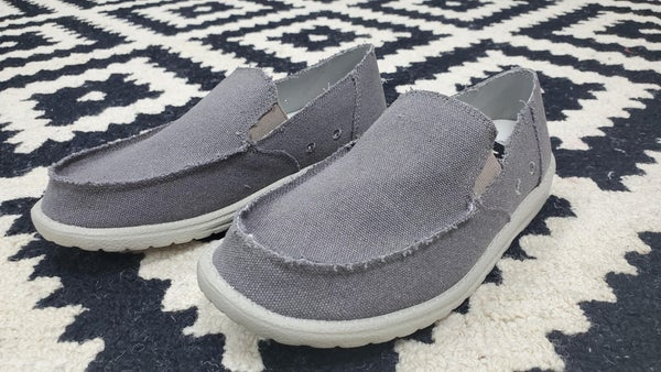 Mr. J Men's Slip-On Shoes -- Grey